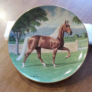 Purebred Horses Of America Collectible Plate